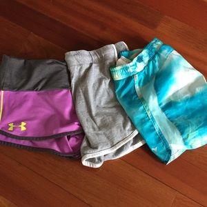 3 pairs of girls shorts